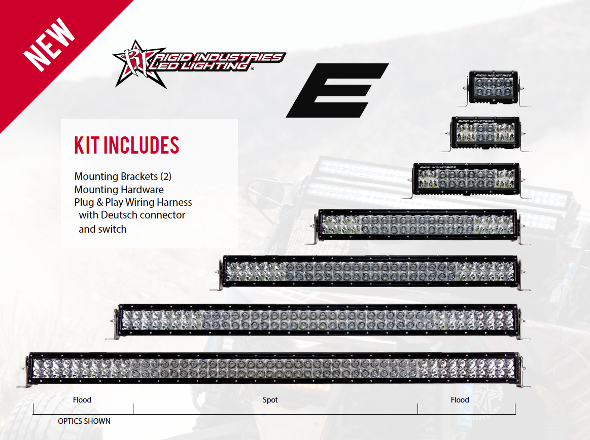Rigid industries e series led light bars aloadofball Image collections