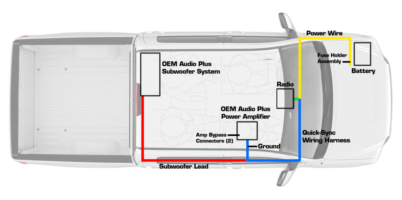 Oem Audio Plus Tundra Crewmax 2014 Present System 500q Sound Solution Amp Wiring Diagram
